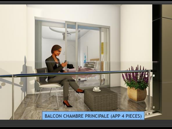 BALCON CHAMBRE PRINCIPALE (APP 4 PIECES)